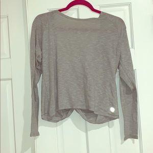 Gray Fabletics Twist Back Shirt